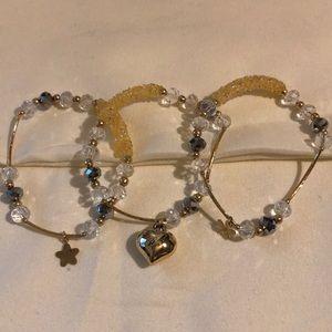 Jewelry - Artisanal Crystal Bracelet Trio